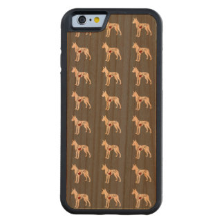 Great Dane Love Carved Cherry iPhone 6 Bumper Case