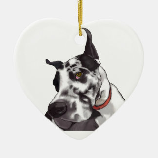 Great Dane Love Ceramic Ornament