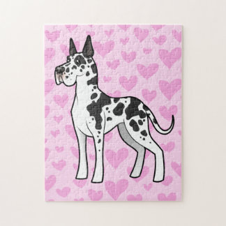Great Dane Love (cropped) Jigsaw Puzzle