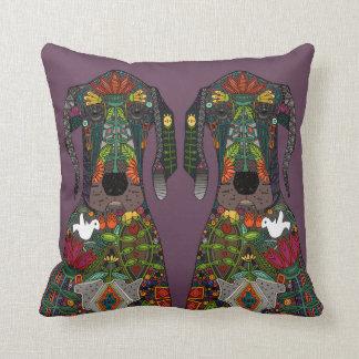 Great Dane love grape Throw Pillow