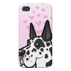 Case Savvy iPhone 4 Matte Finish Case with Great Dane Phone Cases design