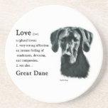 Great Dane Love Is Coaster