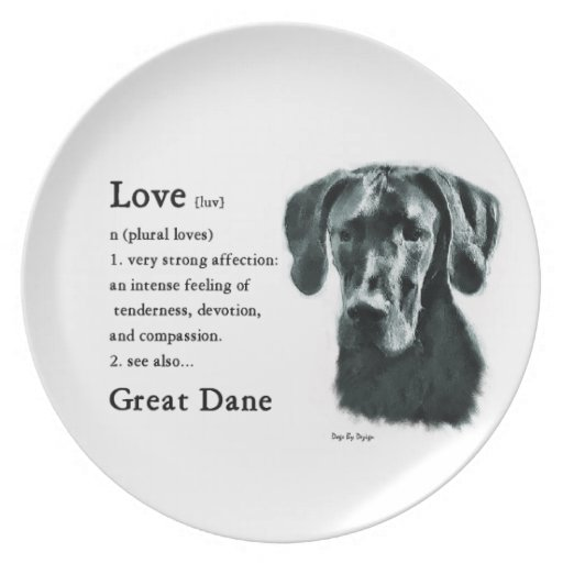 Great Dane Love Is Party Plate