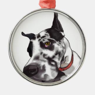 Great Dane Love Metal Ornament
