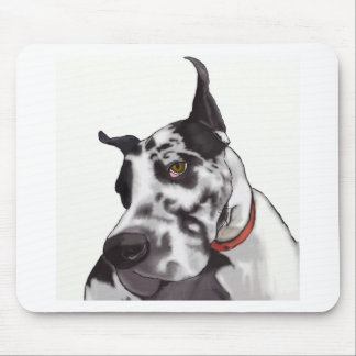 Great Dane Love Mouse Pad