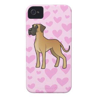 Great Dane Love (natural) iPhone 4 Case