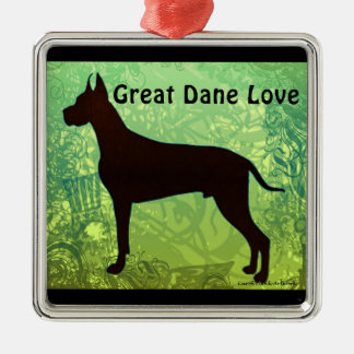 Great Dane Love Ornament by Carol Zeock