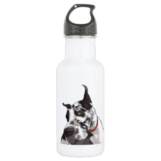 Great Dane Love 18oz Water Bottle
