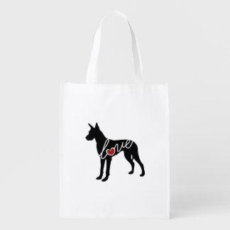 Great Dane Love Reusable Grocery Bag