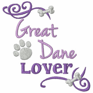 Great Dane Lover Embroidered Hooded Sweatshirt