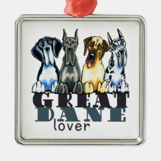 Great Dane Lover Metal Ornament