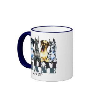 Great Dane Lover Ringer Coffee Mug