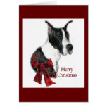 Great Dane Mantle Christmas Gifts Greeting Card
