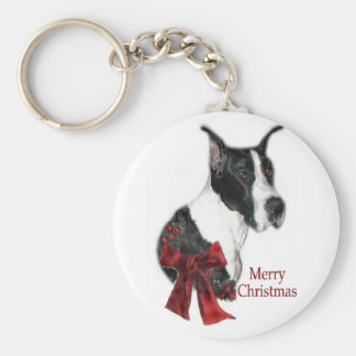 Great Dane Mantle Christmas Gifts Keychains