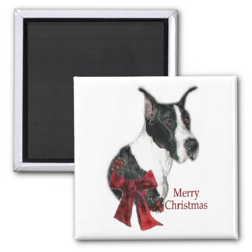 Great Dane Mantle Christmas Gifts Magnets