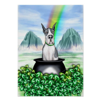 Great Dane Mantle Pot O Gold Poster
