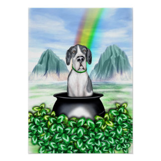 Great Dane Mantle UC Pot O Gold Poster
