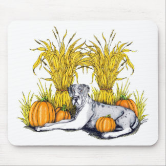 Great Dane Merle Harvest UC Mousepad