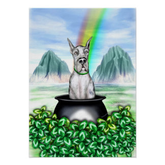Great Dane Merle Pot O Gold Poster