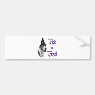 Great Dane (merle) Trick Bumper Sticker