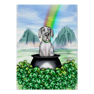 Great Dane Merle UC Pot O Gold Poster