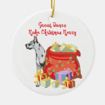 Great Dane Merry Christmas Christmas Ornaments