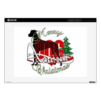 GREAT DANE MERRY CHRISTMAS DECAL FOR LAPTOP