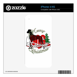 GREAT DANE MERRY CHRISTMAS DECALS FOR THE iPhone 4