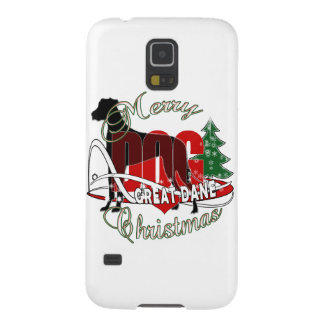 GREAT DANE MERRY CHRISTMAS GALAXY S5 CASE