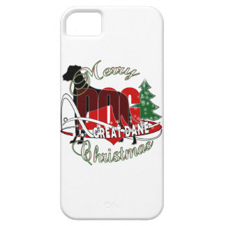 GREAT DANE MERRY CHRISTMAS iPhone SE/5/5s CASE
