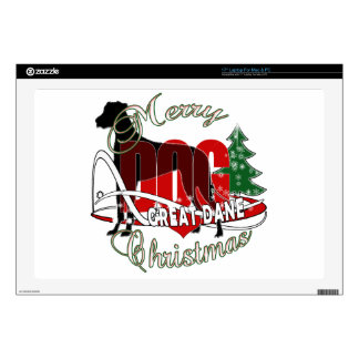 GREAT DANE MERRY CHRISTMAS LAPTOP DECALS