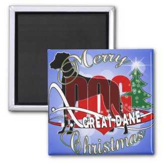 GREAT DANE MERRY CHRISTMAS MAGNET