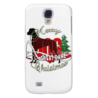 GREAT DANE MERRY CHRISTMAS SAMSUNG GALAXY S4 COVER