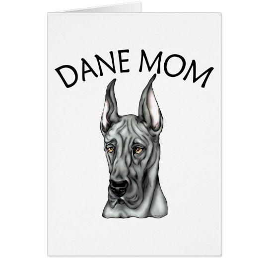 Great Dane Mom Black Card