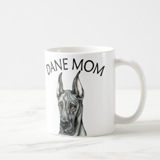 Great Dane Mom Black Coffee Mug