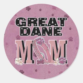 Great Dane MOM Classic Round Sticker