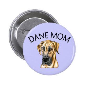 Great Dane Mom Fawn UC Button
