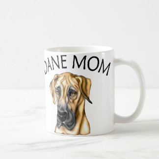 Great Dane Mom Fawn UC Classic White Coffee Mug