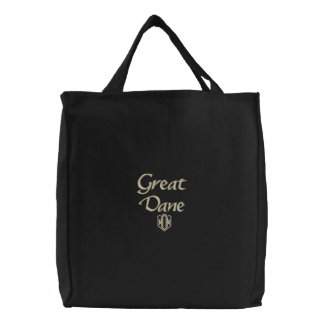 Great Dane MOM Gifts Embroidered Tote Bag