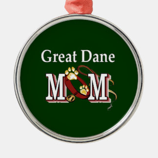 Great Dane Mom Gifts Metal Ornament