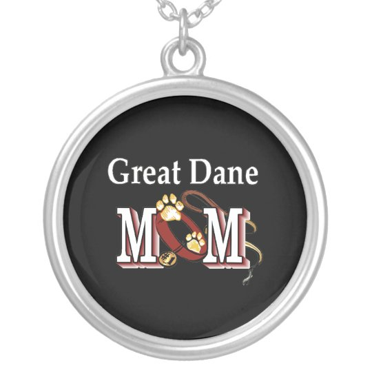 Great Dane Mom Gifts Silver Plated Necklace