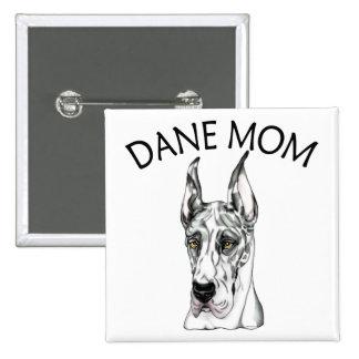 Great Dane Mom Harlequin Pinback Button