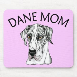 Great Dane Mom Harlequin UC Mouse Pad