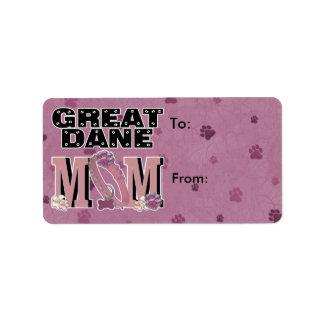 Great Dane MOM Label