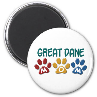GREAT DANE Mom Paw Print 1 2 Inch Round Magnet