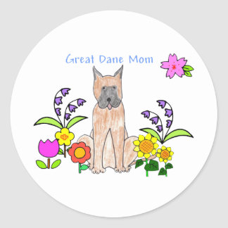 Great Dane Mom Sticker