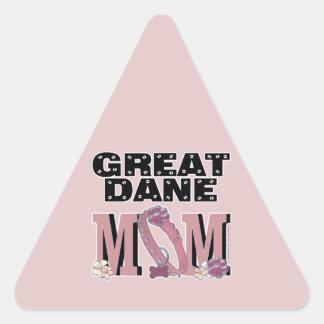 Great Dane MOM Triangle Sticker