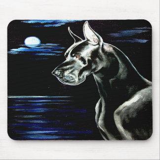 Great Dane Mouse Pad - Dark Moon