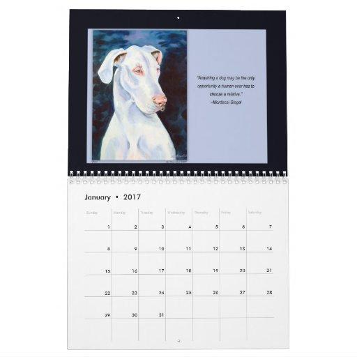 Great Dane Natural Ears Calendar
