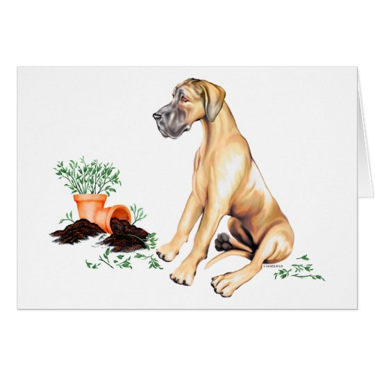 Great Dane Naughty Pup Fawn UC Card